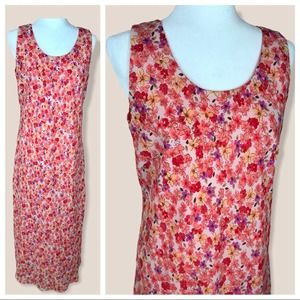 Vintage | Ditsy Floral Fitted Sheath Dress Size 14